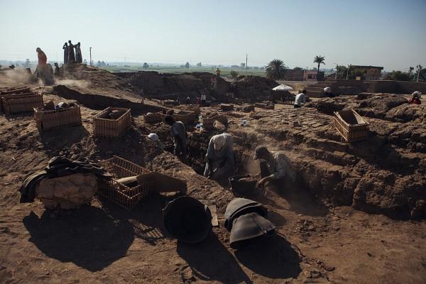 In Ägypten wurde zum ersten mal ein Begräbnisgarten entdeckt