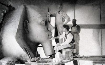 """Sphinx-Kopf in der """"Verlorenen Stadt"""" von Demille entdeckt"""